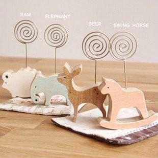 DIY Memo decoration bookmark postcard binder paper clip wooden photo pegs pin clothes craft clips paperclip 2pcs/lots CM27(China (Mainland))