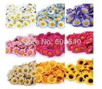 100Pcs Artificial Gerbera Daisy Silk Flowers Heads For DIY Wedding Party AE01488