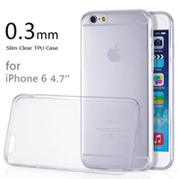 0.3mm Ultra Thin Transparent TPU Plastic Case for Apple iPhone 6 6G iPhone6 4.7 inch Clear Soft Phone Case Back Cover Shell