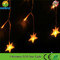 4x0.6M 220V twinkle star garland Xmas colorful christmas led curtain light for wedding party holiday decoration