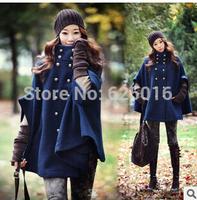 Fashion Women's Warm Long Wool Coat  Jacket Autumn Winter Wool Coat  Outwear Double-Breasted Outerwear Wool Coat