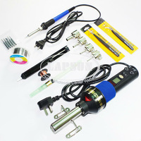 220V-240V 450W  LCD Adjustable Heat Hot Air Gun Desoldering Soldering Station IC 8018LCD + 60W Temperature Adjust Soldering Iron