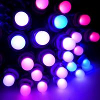 50pcs Individual addressable RGB WS2801 LED Pixels DC5V 10cm Wire IP68 Waterproof