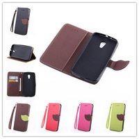New Luxury Phone Cases Covers Flip Stand Leather Case Cover For  2014 Motorola New Bike Moto G 2 2nd Gen XT1063 XT1069 XT1068