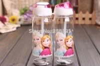 FROZEN Elsa and Frozen Anna water bottle travel Good Girl Gifts children cartoon straw cup 20cmX6.5cm toys for children