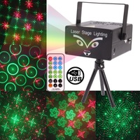 Mini LED Laser Projector with Retail Box DJ Disco Bar Stage House Lighting Fireworks Projector MP3 Player Support USB Flash Disk
