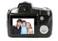 """Free shipping Arrival 2.4"""" LCD 30MP HD Digital Video Camcorder Single Len SLR Camera DV With Telescope"""