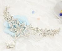 Bridal boutique wholesale crystal wedding tiara crown wedding dress bridal fashion accessories high quality diadema novia