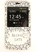 2014 New Arrival New Art Fashion Style Because Cat Kitten Mobile Phone Back Wallet Case Cover For Samusng Galaxy S5 SV I9600