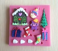 Christmas Series Soft Silicone  Shaped Mold Color Random For Cake Decoration Cake Tools Drop -P269