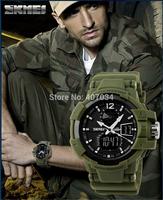 Fashion Skmei1040shock resist men's Sports Watch, 5ATM Waterproof swimming watch LED Digital Student outdoor Wristwatches