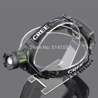 1 PC 2000 Lumens CREE XML T6 LED Electric Headlamp Flashlight3 Modes Head Lamp Light +Charger Free Shipping[2189-T6]