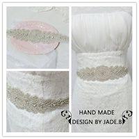 Vintage crystal Bridal Belt  shinning woman Waistband wedding full beaded rhinestone sash for party dress BW05