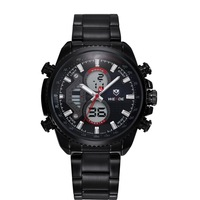 Men sports watches brand WEIDE military watches calendar analog Japan quartz digital movement stainless steel watch waterproof