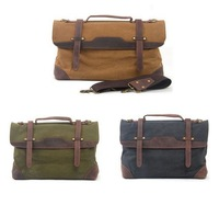 new 2014 Men's Women's  business briefcase bag canvas bag Handbags messenger bags  travel bags leather briefcase
