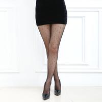 Waho High Quality Fashion Black Pantyhose Women Tights Sexy Stockings Dot Jacquard Fishnet Stockings Sexy Lingerie Free Shipping