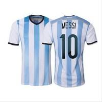 Top A+++ 2014 World Cup Argentina Home Messi KUN AGUERO soccer jersey Grade Original thai quality football jersey soccer shirt