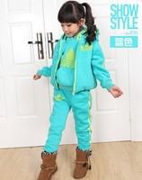 Retail children winter outwear Thick christmas boy clothing set Korean version boys clothing sets Sweater + vest + pants