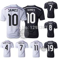 2014 15 Top Thailland AAA + Best Quality Madrid Home & Away Ronaldo James Bale Sergio Ramos Football Jerseys Kroos Soccer Shirts