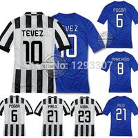2014 15 Top Thailand AAA+ Best Quality Home & Away Pogba Pirlo Tevez Vidal Football Jersey Men Sport Outfit Soccer Shirt Uniform