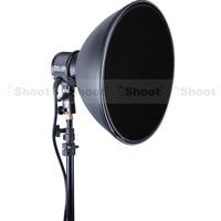 iShoot 36cm Studio Flash Radar Reflector Sofbox Beauty Dish + White Diffuser + Honeycomb Grid for COMET Monolight Stobe -NEW