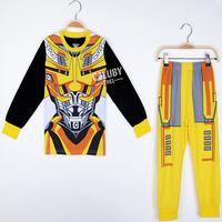 All super star Transformers spider-man Kids Pajamas Sets Baby Clothing set  Boys Girls pyjamas Cotton Printed children sleepwear
