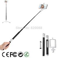 Free Shipping New Carbon Fiber Altralight Extendable Selfie Monopod Mount Remote Bluetooth