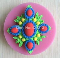Fondant Cake Decorating Tools Silicone Cake Mold Molds Fondant Bakeware Flowers Shape Cake Tools Kitchen Accessories-P271
