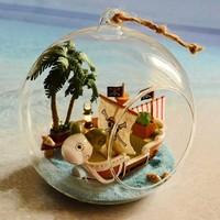 Mini sailing adventures wood model doll houses assembling dollhouse diy assembling toy kit free shipping