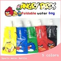 6 colors Portable Folding Sports Water Bottle 480ml 25g Free Shipping 10pcs/lot