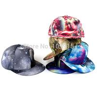 2014New Style Unisex Galaxy Print Snapback Peak Baseball Cap/Hat Travel OutdooerFree&Drop Shipping