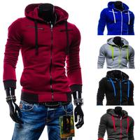 2014 New Arrival Men's Hoodies Cool male casual fleece with a hood sweatshirt 5 Colors M~XXL