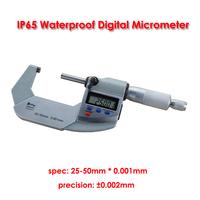 25-50mm 0.001mm IP65 Waterproof Digital Outside Micrometer Electronic micrometer Measuring tool for DIY