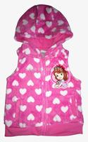 free ship, retail Children/kids/girls autumn clothing Sofa coral fleece Outerwear /Coat / vests / waistcoats(2-7 years)
