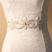 Promotion handmade wedding pearl bridal belt vintage bride beaded sash wedding oranments for bride bridesmaid dress  BW09