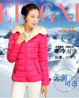 2014 new arrival vintage hooded cotton coat women short winter jacket Good quality L-XXXL