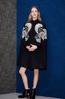 Free shipping 2014 brand new witner wool coat fashion embroidery cloak woman winter wool blend coat