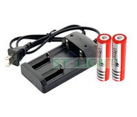Free Shipping!100-240V/47-63HZ Input Universal Battery Charger US Plug 18650 battery charger+2X3000mAH 18650 li ion battery 3.7v