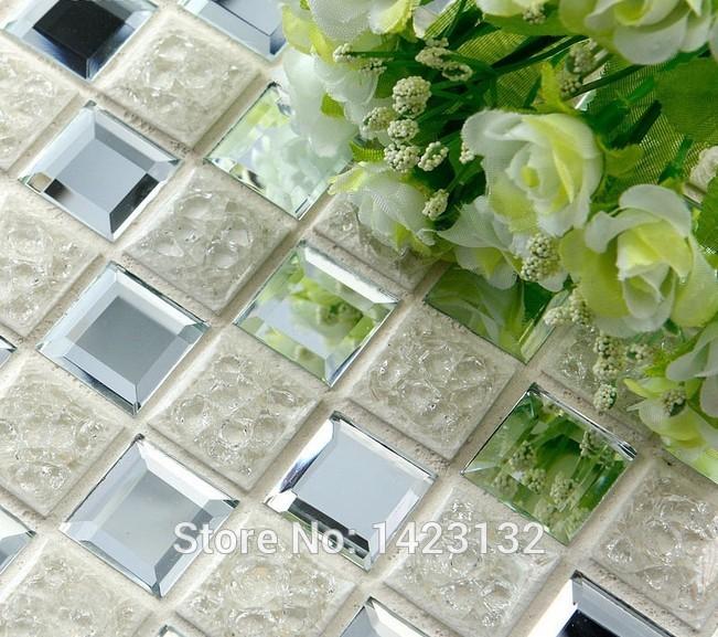 Porcelanato vitrificado mosaicos de cerâmica de prata 1801 do banheiro telhas do espelho azulejo chão da cozinha backsplash adesivo de parede banheiro(China (Mainland))