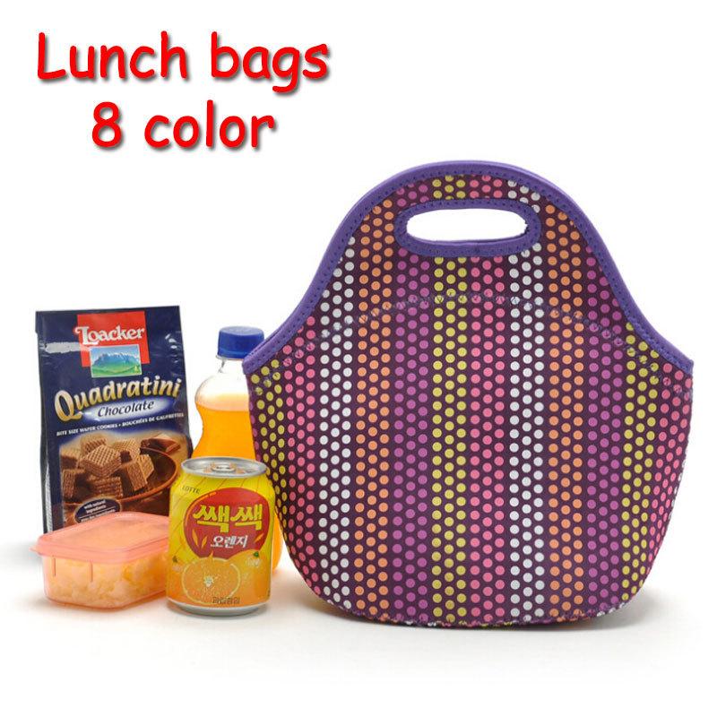 lancheira térmica saco de neoprene almoço com isolamento térmico para as mulheres crianças lunchbags bolsa com zíper almoço saco térmico caixa de isolamento(China (Mainland))