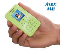 Original mini phone AIEK M6 card mobile phone pocket students children phone  card phone MP3 Player MP4 Internet FM Bluetooth