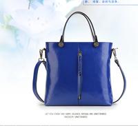 2014 candy color big bag leather handbag fashion women leather  Women Handbags PU Leather Handbag Stone Grain Bag