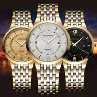 New ! Brand BAISHUNS Luxury Women Gold Watch Full Steel Analog Quartz Business Watch Fashion Clock Female Hours Relogio Feminino