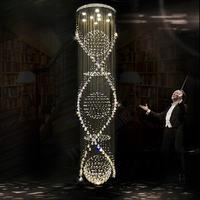 Free shipping new modern 3PCS lustre crystal ball+Spiral design chandelier large lustres de cristal lights Dia65*H250cm