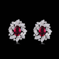 Hot Environmentally Friendly Materials Platinum Earrings Jewelry Earrings Zircon Ear Acupuncture