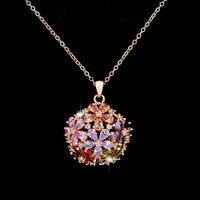 Hot gorgeous Zircon Pendant, White Gold / rose gold Necklace