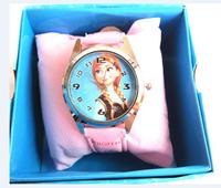 free shipping 1pcs frozen box watch kids fashion quartz cartoon with box Cute Lovely Girl