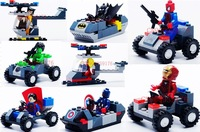 240Pcs/lot New Super Heroes With Their Vehicle Car Best Educational Toys Plastic Building blocks Set