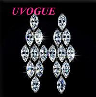 New top Tassel Wedding Party AAA 9 pieces Swiss CZ Diamond Chandelier stud Earrings for women (UVOGUE UE0035)