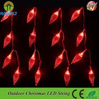 3PCS/Lot 220V Colorful led Christmas light leaves shape Holiday Outdoor string Wedding Party Garden Xmas led twinkle light